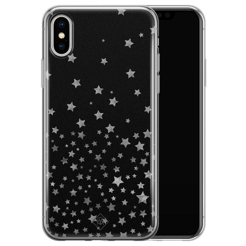 Casimoda iPhone X/XS siliconen hoesje - Falling stars