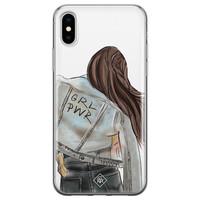 Casimoda iPhone X/XS siliconen hoesje - GRL PWR
