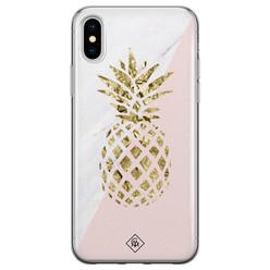 Casimoda iPhone X/XS siliconen hoesje - Ananas