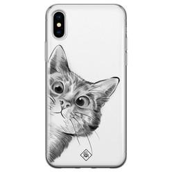 Casimoda iPhone X/XS siliconen hoesje - Peekaboo