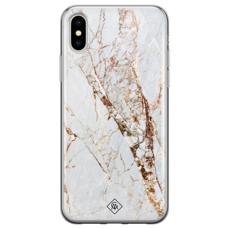 Casimoda iPhone X/XS siliconen hoesje - Marmer goud