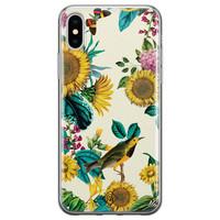 Casimoda iPhone X/XS siliconen hoesje - Sunflowers