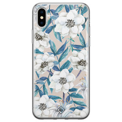 Casimoda iPhone X/XS siliconen hoesje - Touch of flowers