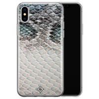 Casimoda iPhone X/XS siliconen hoesje - Oh my snake