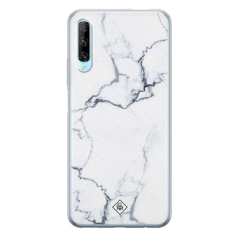 Casimoda Huawei P Smart Pro siliconen hoesje - Marmer grijs