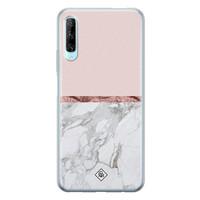 Casimoda Huawei P Smart Pro siliconen telefoonhoesje - Rose all day