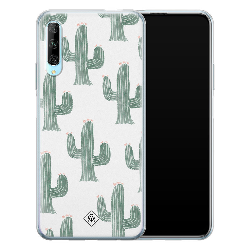 Casimoda Huawei P Smart Pro siliconen telefoonhoesje - Cactus print