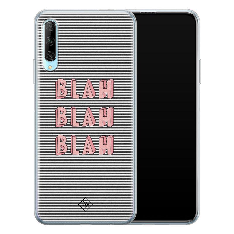 Casimoda Huawei P Smart Pro siliconen telefoonhoesje - Blah blah blah