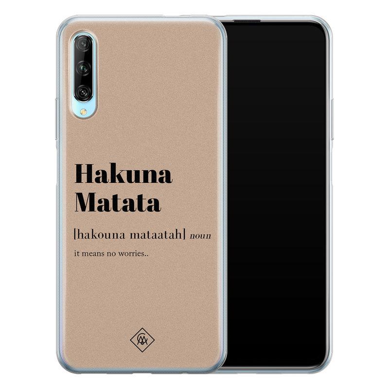 Casimoda Huawei P Smart Pro siliconen hoesje - Hakuna matata