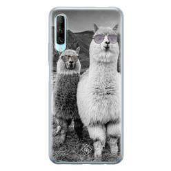 Casimoda Huawei P Smart Pro siliconen hoesje - Llama hipster