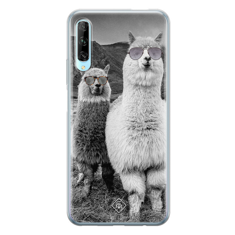 Casimoda Huawei P Smart Pro siliconen telefoonhoesje - Llama hipster