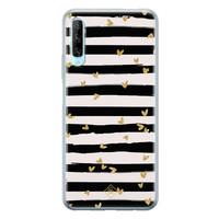 Casimoda Huawei P Smart Pro siliconen telefoonhoesje - Hart streepjes