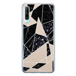 Casimoda Huawei P Smart Pro siliconen hoesje - Abstract painted