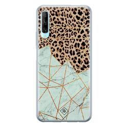 Casimoda Huawei P Smart Pro siliconen hoesje - Luipaard marmer mint