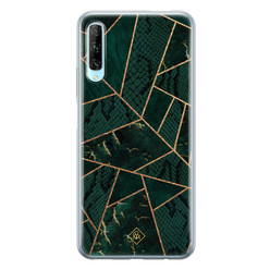 Casimoda Huawei P Smart Pro siliconen hoesje - Abstract groen