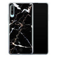 Casimoda Huawei P Smart Pro siliconen hoesje - Marmer zwart