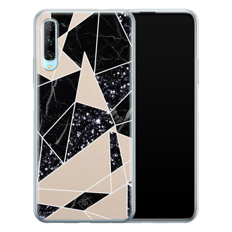 Casimoda Huawei P Smart Pro siliconen telefoonhoesje - Abstract painted