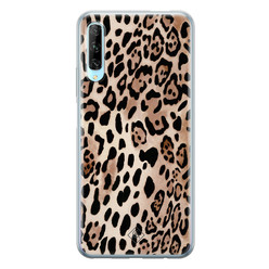 Casimoda Huawei P Smart Pro siliconen hoesje - Golden wildcat