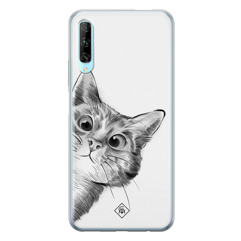 Casimoda Huawei P Smart Pro siliconen hoesje - Peekaboo