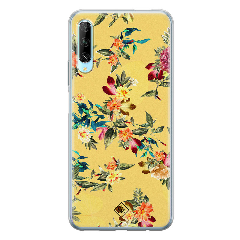 Casimoda Huawei P Smart Pro siliconen hoesje - Floral days