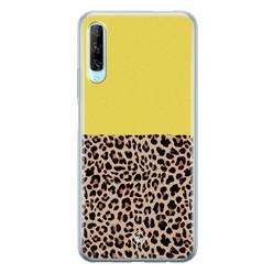 Casimoda Huawei P Smart Pro siliconen hoesje - Luipaard geel