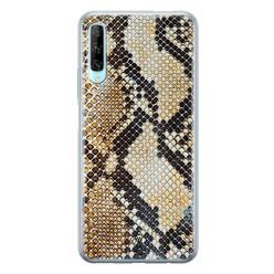 Casimoda Huawei P Smart Pro siliconen hoesje - Golden snake