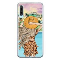 Casimoda Huawei P Smart Pro siliconen hoesje - Sunset girl