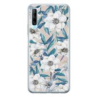 Casimoda Huawei P Smart Pro siliconen telefoonhoesje - Touch of flowers
