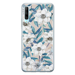 Casimoda Huawei P Smart Pro siliconen hoesje - Touch of flowers