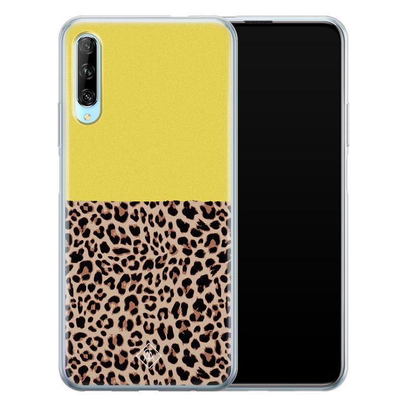 Casimoda Huawei P Smart Pro siliconen hoesjje - Luipaard geel
