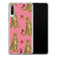 Casimoda Huawei P Smart Pro siliconen hoesje - The pink leopard