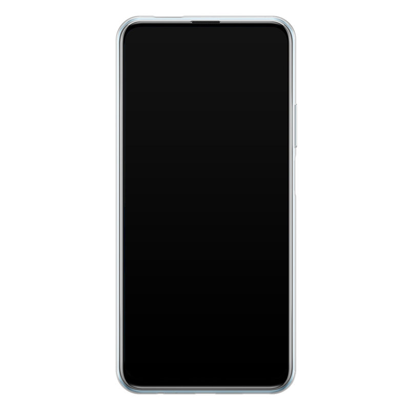 Casimoda Huawei P Smart Pro siliconen hoesje - Marmer blauw goud