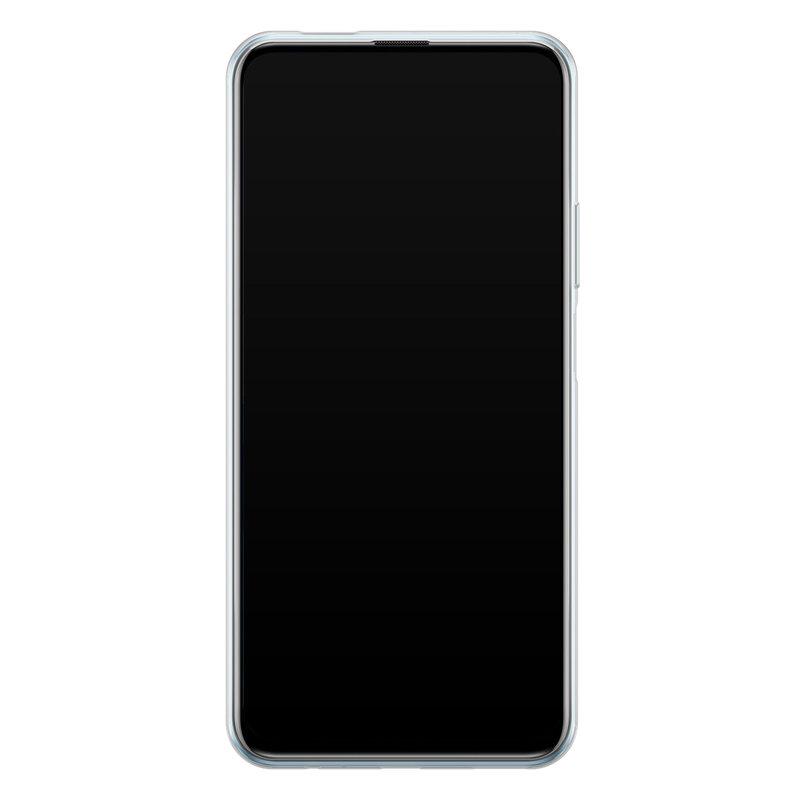 Casimoda Huawei P Smart Pro siliconen hoesje - Marmer blauw