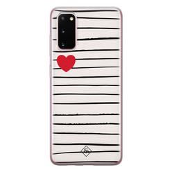 Casimoda Samsung Galaxy S20 siliconen hoesje - Heart queen