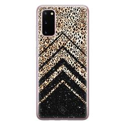 Casimoda Samsung Galaxy S20 siliconen hoesje - Chevron luipaard
