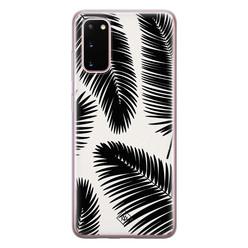 Casimoda Samsung Galaxy S20 siliconen hoesje - Palm leaves silhouette