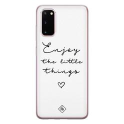 Casimoda Samsung Galaxy S20 siliconen hoesje - Enjoy life