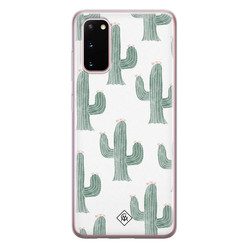 Casimoda Samsung Galaxy S20 siliconen hoesje - Cactus print