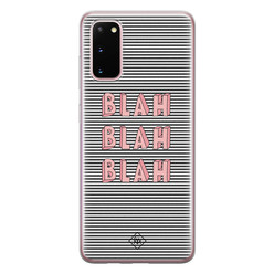 Casimoda Samsung Galaxy S20 siliconen hoesje - Blah blah blah