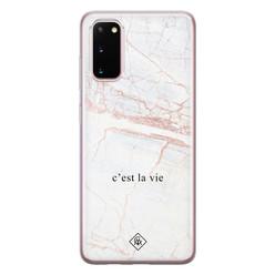 Casimoda Samsung Galaxy S20 siliconen hoesje - C'est la vie