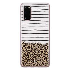 Casimoda Samsung Galaxy S20 siliconen hoesje - Leopard lines