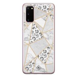 Casimoda Samsung Galaxy S20 siliconen hoesje - Stone & leopard print