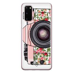 Casimoda Samsung Galaxy S20 siliconen hoesje - Hippie camera