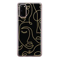 Casimoda Samsung Galaxy S20 siliconen hoesje - Abstract faces