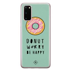 Casimoda Samsung Galaxy S20 siliconen hoesje - Donut worry