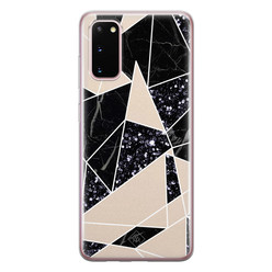 Casimoda Samsung Galaxy S20 siliconen hoesje - Abstract painted
