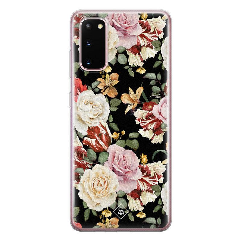 Casimoda Samsung Galaxy S20 siliconen hoesje - Flowerpower