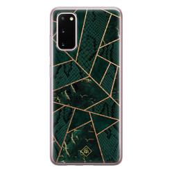 Casimoda Samsung Galaxy S20 siliconen hoesje - Abstract groen
