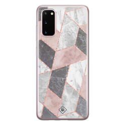 Casimoda Samsung Galaxy S20 siliconen hoesje - Stone grid