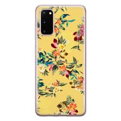 Casimoda Samsung Galaxy S20 siliconen hoesje - Floral days